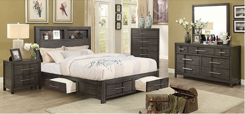 Furniture of america cm7500gy karla bedroom set dallas for Furniture of america dallas texas