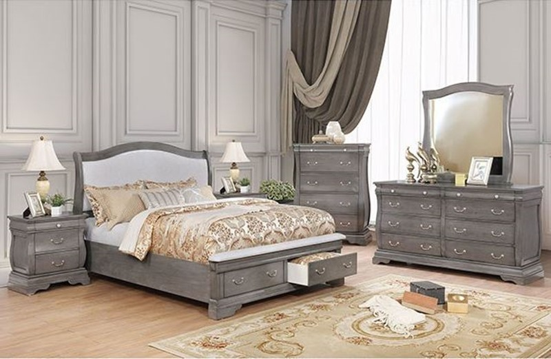 Furniture of america cm7504gy merida bedroom set for Furniture of america dallas texas