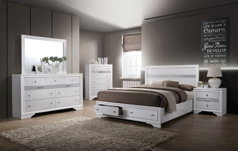 Chrissy Bedroom Set with Storage Drawers