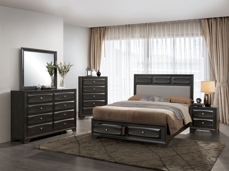 Clotilde Bedroom Set with Storage Drawers