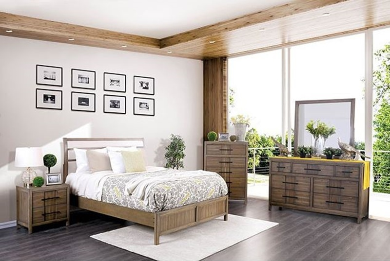 Berenice Bedroom Set in Light Oak