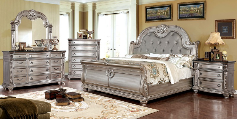 Fromberg Bedroom Set in Champagne