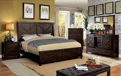 Bianca Bedroom Set in Dark Walnut
