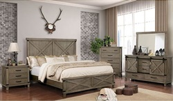 Bianca Bedroom Set in Gray