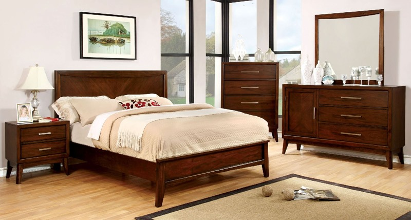 Snyder Bedroom Set in Brown Cherry