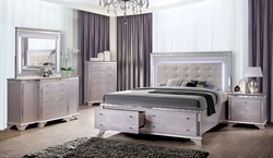 Claudette Bedroom Set with Storage Drawers