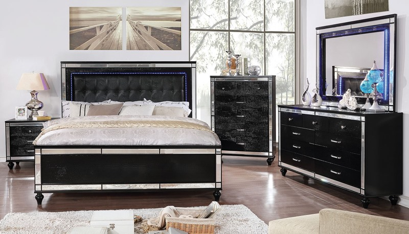 Brachium Bedroom Set in Black