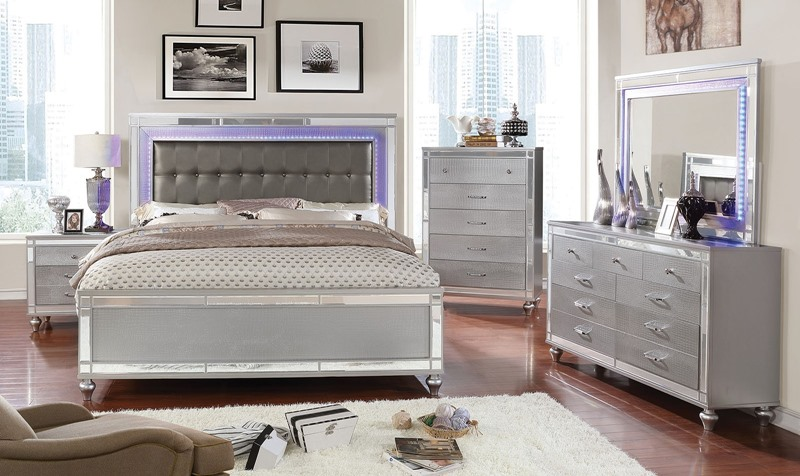 Furniture of america cm7977sv brachium bedroom set for Furniture of america dallas texas