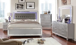 Brachium Bedroom Set in Silver