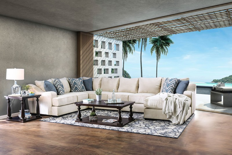 Furniture Of America Sm1113 Marisol Sectional Sofa