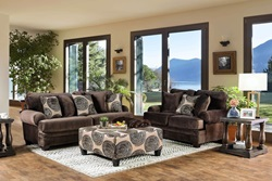 Bonaventura Living Room Set in Brown
