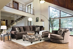 Bonaventura Sectional Sofa in Brown