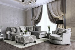 Bonaventura Sectional Sofa in Gray