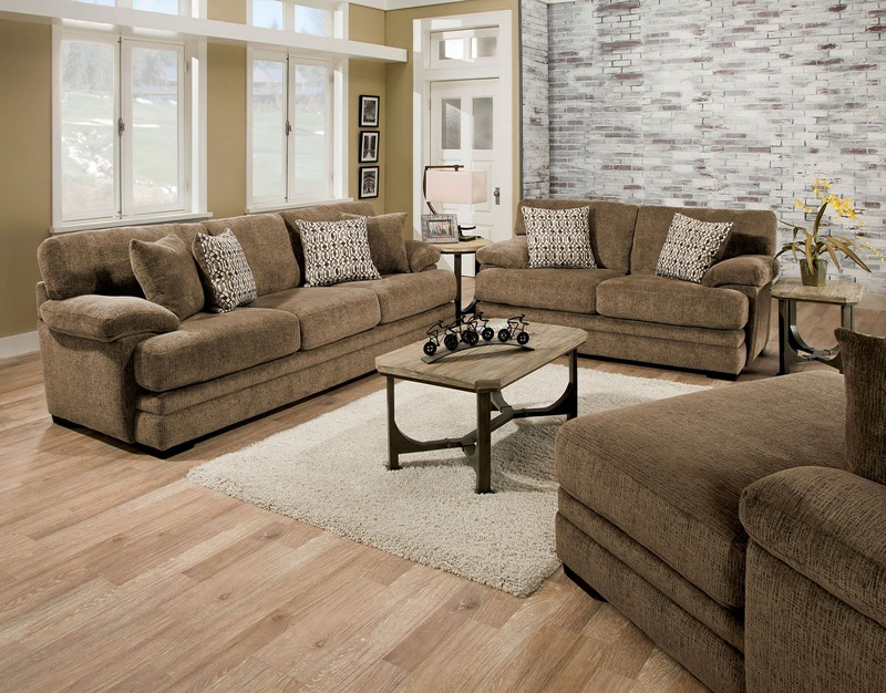 Abrianna Living Room Set in Brown