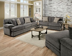 Abrianna Living Room Set in Gray