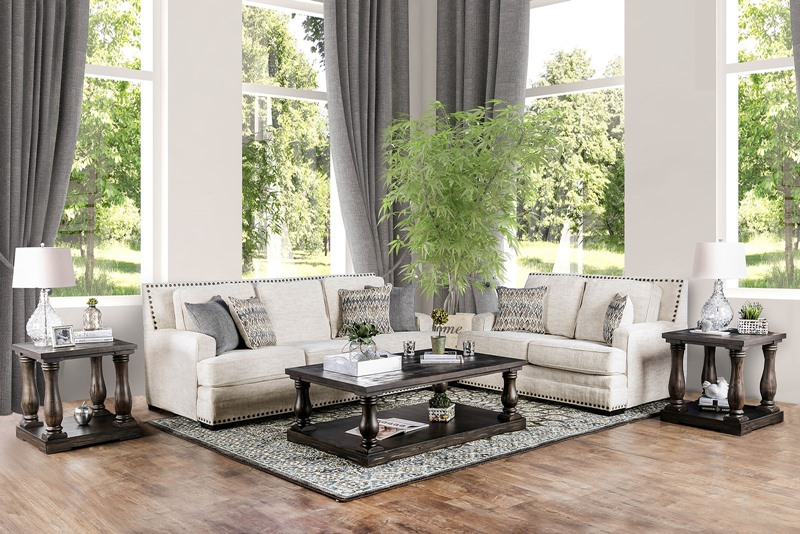Osvaldo Living Room Set in Ivory