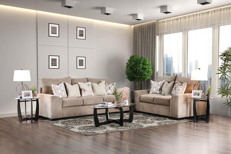 Marjorie Living Room Set in Mocha