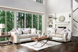 Benigno Living Room Set in Pearl
