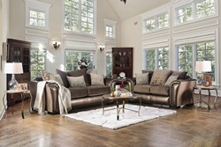 Benigno Living Room Set in Brown