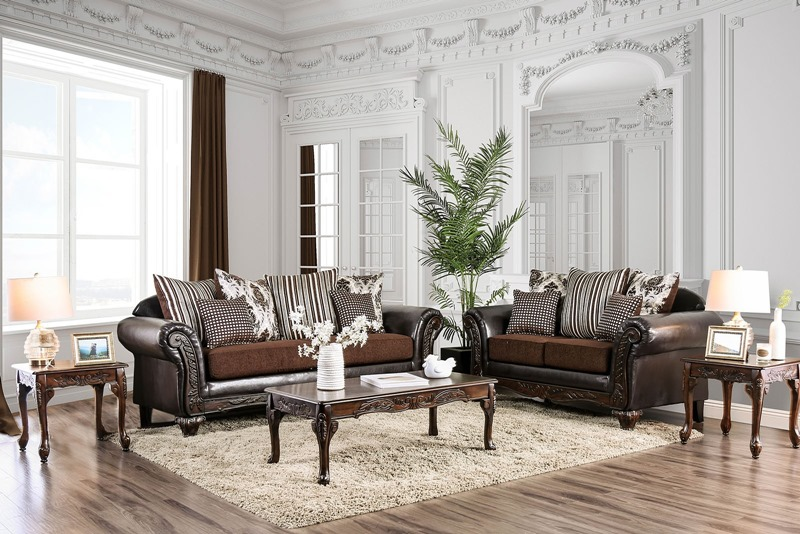 Midleton Formal Living Room Set in Brown