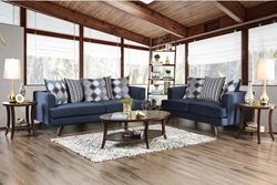 Blaenavon Living Room Set in Blue