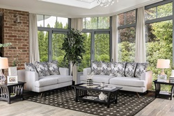 Blaenavon Living Room Set in Silver