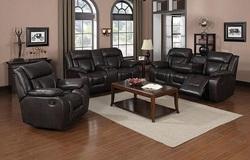 Hudson Reclining Living Room Set in Brown