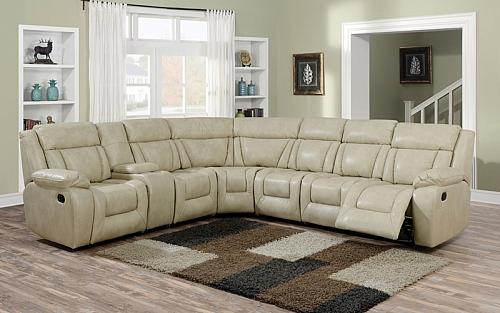 Hudson Reclining Sectional in Beige