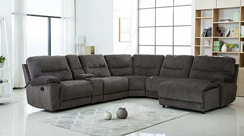 Wrangler Reclining Sectional in Gray