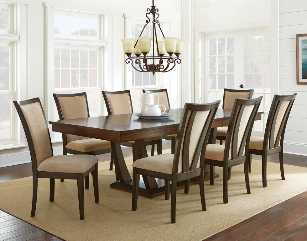 Dallas designer furniture gabrielle formal dining room set Dining room furniture dallas