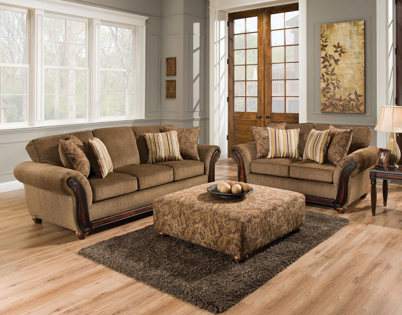 Cornell Chestnut Living Room Set