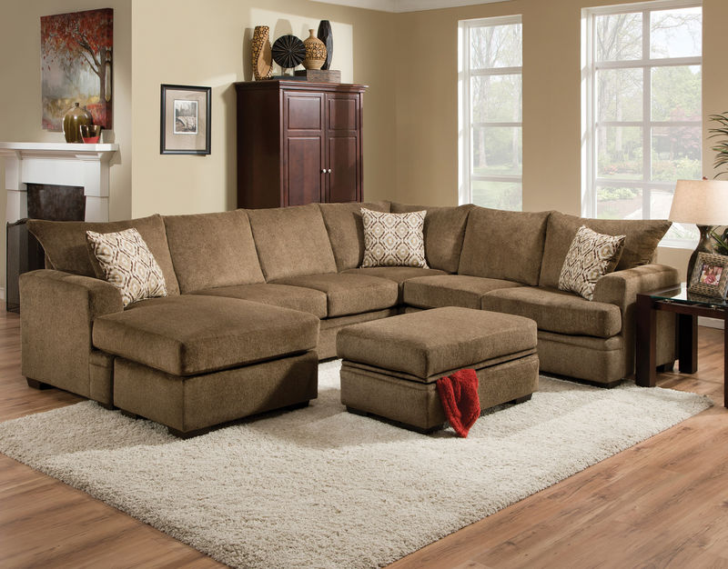 Cornell Cocoa Sectional Sofa Set