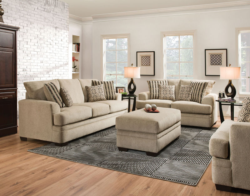 Cornell Platinum Living Room Set