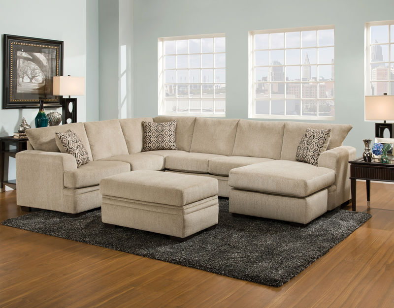 Cornell Platinum Sectional Sofa Set