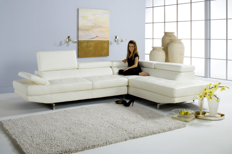 Milan Sectional Sofa Set in White