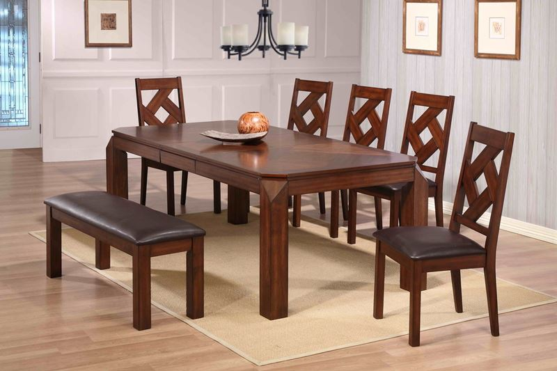 Diamond Casual Dining Set with Bench