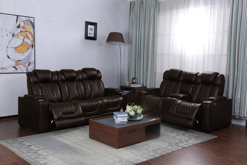 Paramount Brown Power Reclining Sofa and Love Seat *Clearance*
