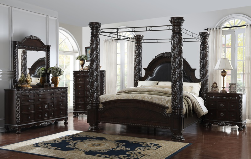 Addison Canopy Bed Bedroom Set 63225 Dallas Designer