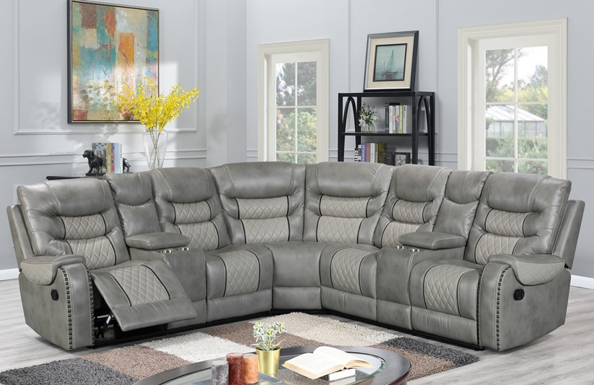 Starwood Grey Reclining Sectional