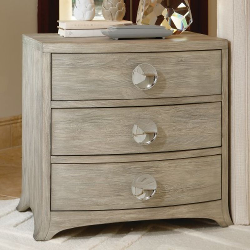 Bow Front 3 Drawer Chest in Grey
