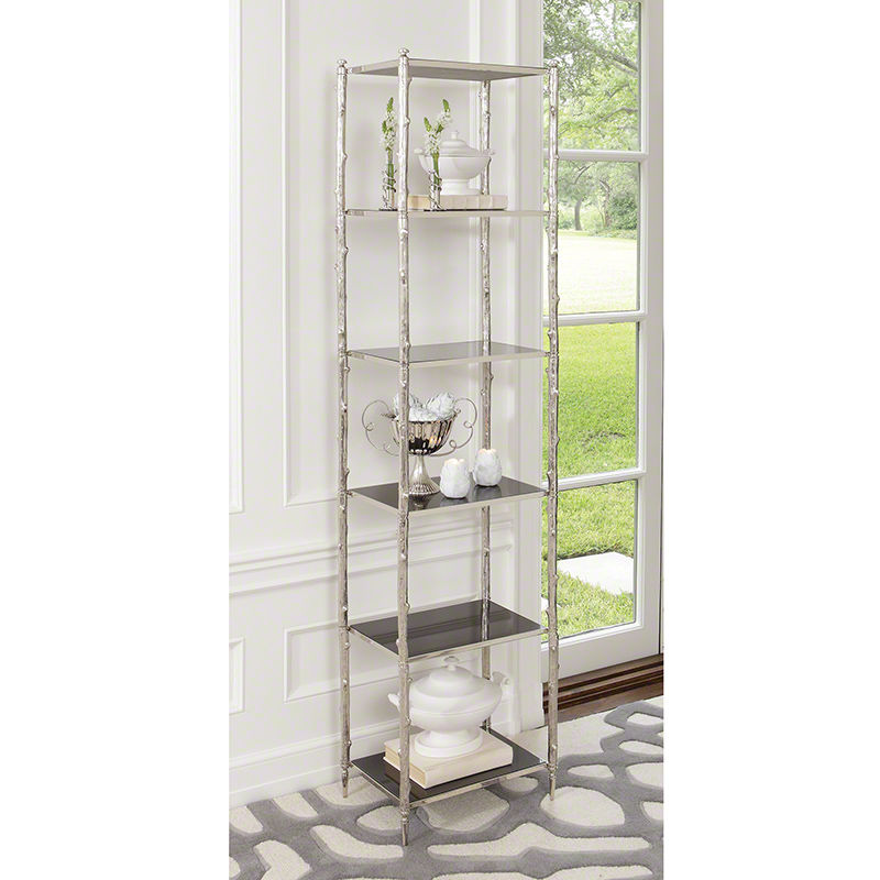 Arbor Etagere in Nickel and Black
