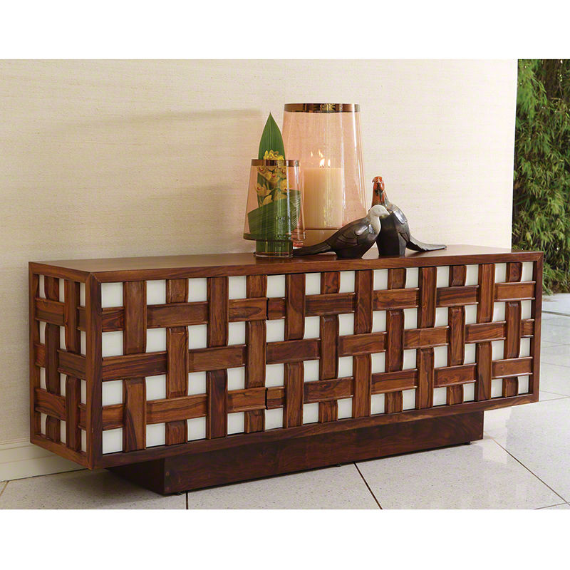 Basketweave Media Cabinet