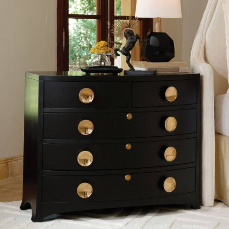 Bow Front Dresser in Ebony