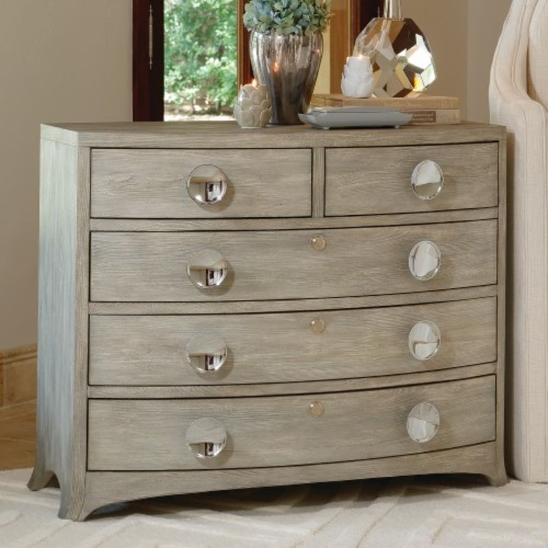 Bow Front Dresser in Grey