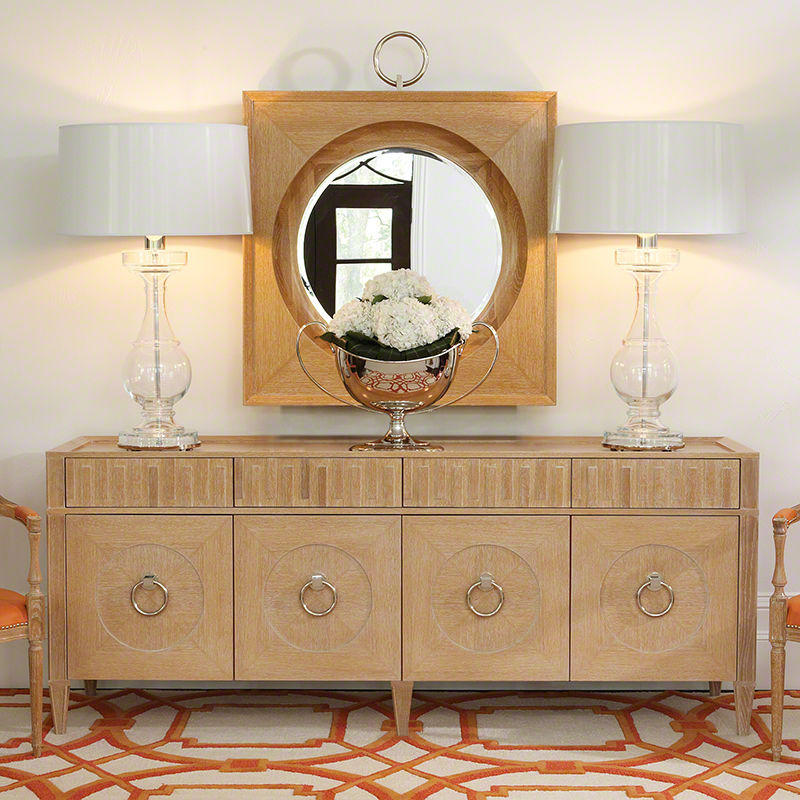 French Key Everything Cabinet in Light Limed
