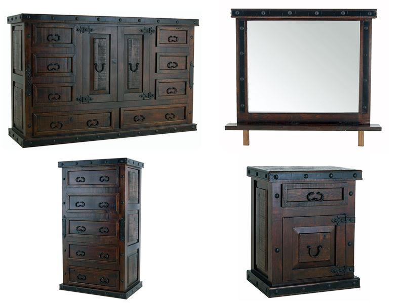 Dallas Designer Furniture Gran Hacienda Rustic Bedroom Set