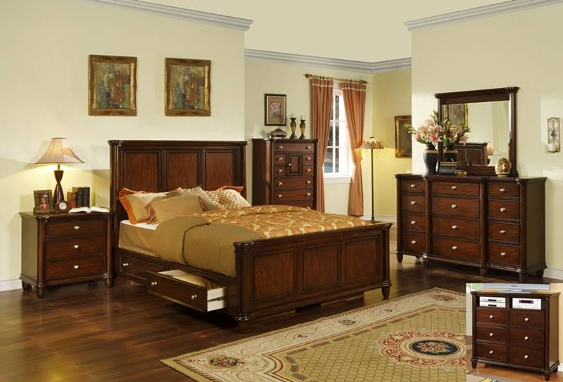 Elements Hm100s Hamilton Bedroom Set With Storage Bed