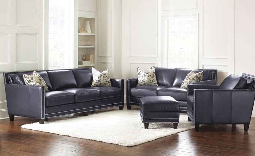 dallas designer furniture hendrix leather living room set