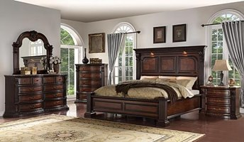 Savoy Bedroom Set with Lights