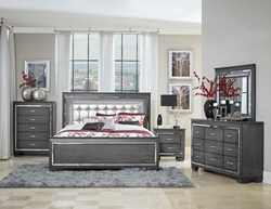 Allura Bedroom Set in Gray